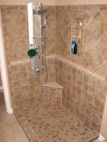 Bathroom Tiled Showers Ideas Tile Bathroom Shower Floor Home Design Ideas