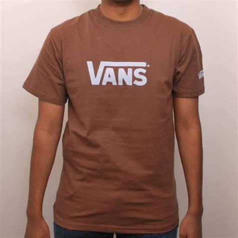 light brown t shirt vans classic skate t shirt brown light blue skate t