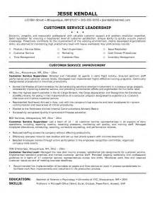 customer service resume resume cv exle template