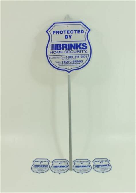 1 brinks home security alarm system yard sign brinks
