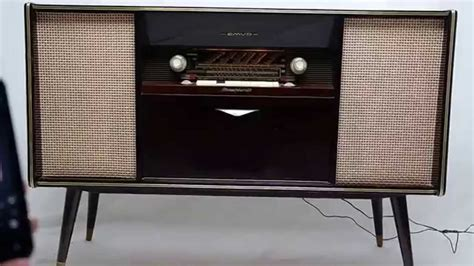 mid century stereo cabinet vintage mid century modern emud german stereo console