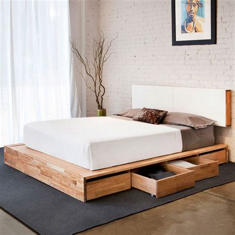 Platform Bed With Storage Underneath Platform Bed With Storage Underneath Matching Floating Headboard Details Make The Room