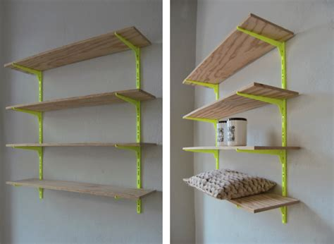 cool shelving cool use of color making cheap shelves look cool home