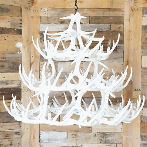 How To Make A Whitetail Deer Antler Chandelier Whitetail Deer 42 Antler White Chandelier
