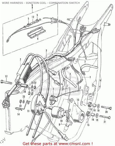 Honda Cb175 Super Sport 175 K5 1971 Usa Wire Harness