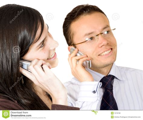 Phone For Couples On The Phone Stock Photo Image 1579700