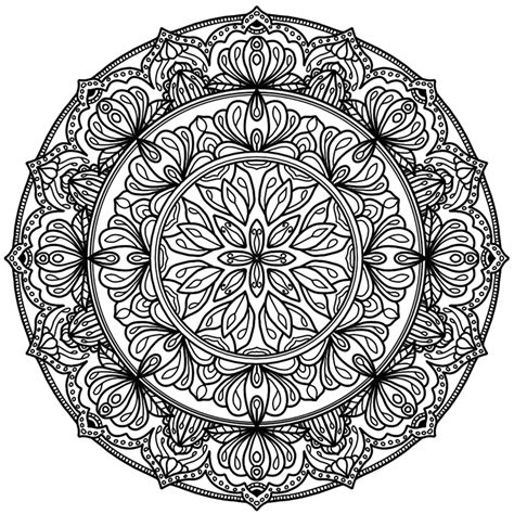 Small Mandala Mandala Circles Coloring Pages