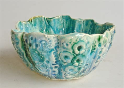 Decorative Ceramic Bowls by Ceramic Bowl Decorative Bowl Lace Bowl Cerulean Bowl