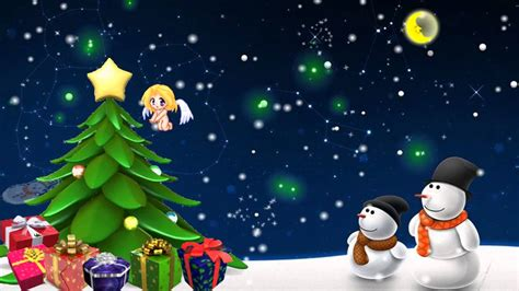 merry christmas  happy  year xmas tree  flash animation youtube
