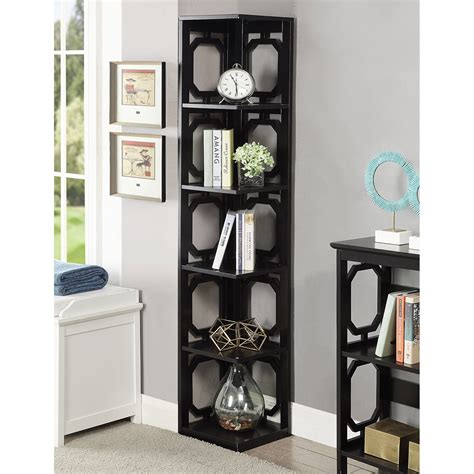 omega 5 tier corner bookcase convenience concepts free
