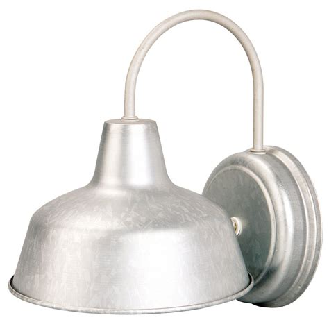 galvanized outdoor light fixtures portfolio galvanized steel outdoor wall light lowe s canada