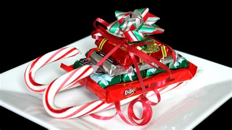 candy cane skeigh xmas craft sleigh how to