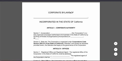 s corp bylaws template s corp bylaws template free best of bylaws templates
