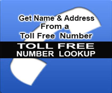 Phone Lookup Toll Free Toll Free Number Lookup