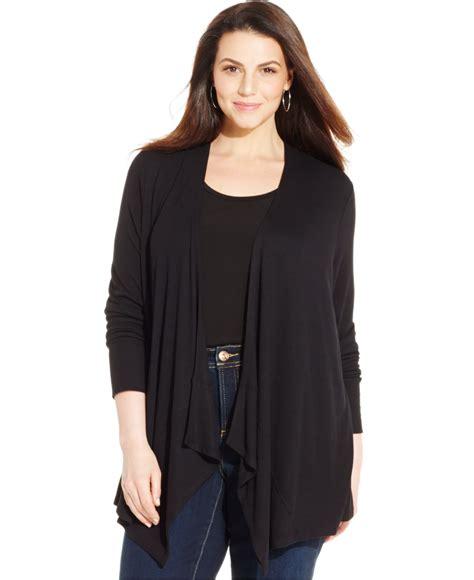 plus size draped cardigan inc international concepts plus size draped open front