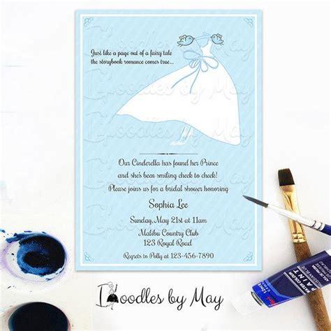 cinderella wedding invitations uk light blue chic cinderella themed bridal shower invitation