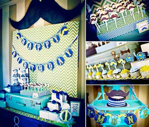 1st birthday theme decorations jar mr mustache 1st birthday planning