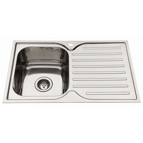 Bunnings Kitchen Sink Bunnings Everhard Industries Indoor Everhard 780mm Squareline Kitchen Sink With Single Bowl Lhb
