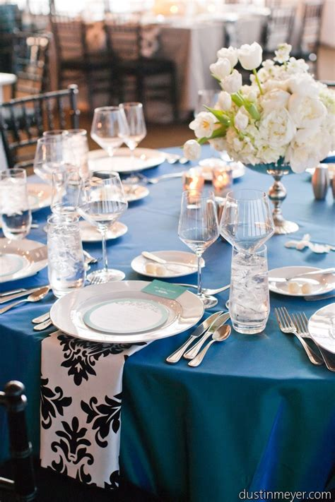 Aqua Blue And Silver Wedding Decorations by Black And White Damask And Turquoise Teal Blue Decor By
