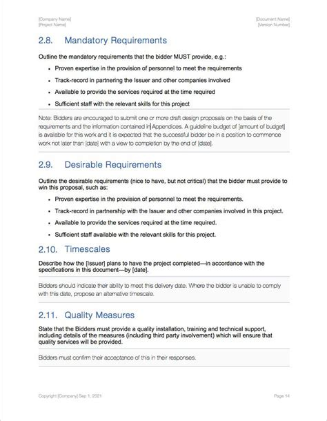 proposal template for apple pages request for proposal rfp template apple iwork pages and
