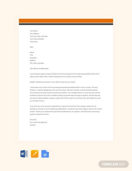 leave letter templates apple mac pages