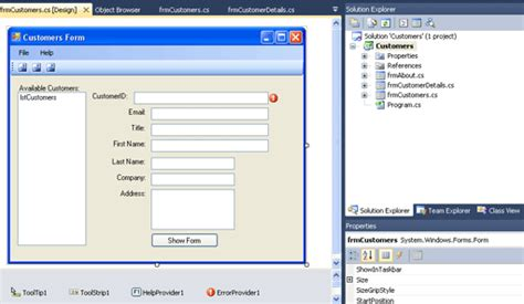 c windows form template windows forms with c using visual studio 2010 tutorial