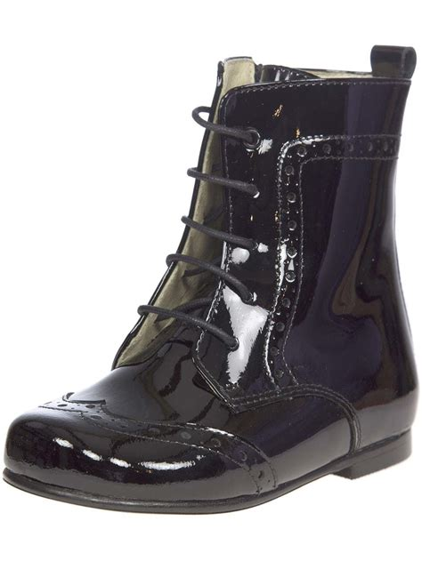 panache lace up toddler boot black