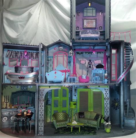 custom monster high doll house ooak custom monster high school doll house w furniture accessories