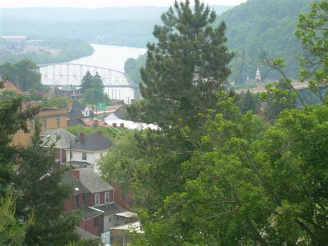 brownsville pa view   monongahela river historic