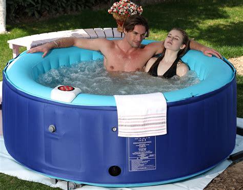 portable jacuzzi for bathtubs 4 person new family aqua spa portable bubble jet blue