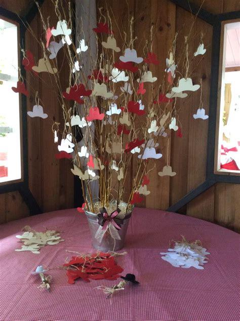 ideas de centros de mesa vaqueros 225 rbol de los deseos donde cada invitado podr 225 escribir