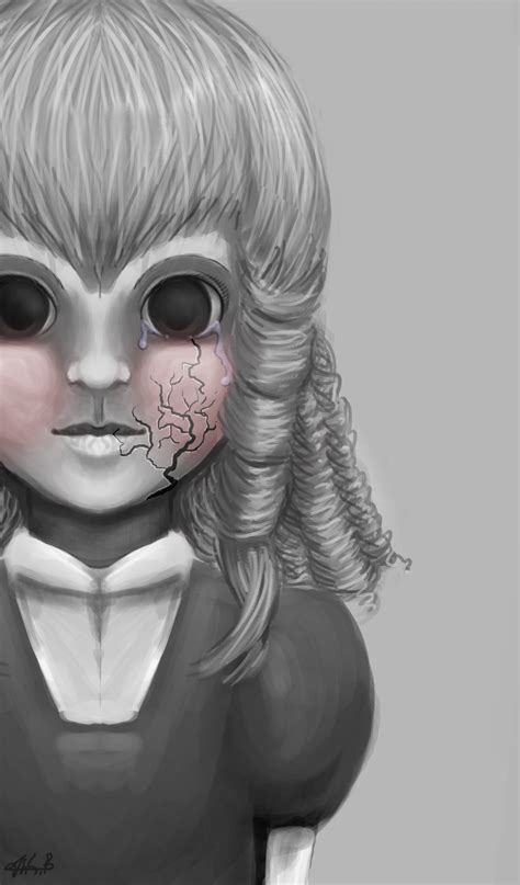 porcelain doll drawing scary doll drawings www pixshark images galleries