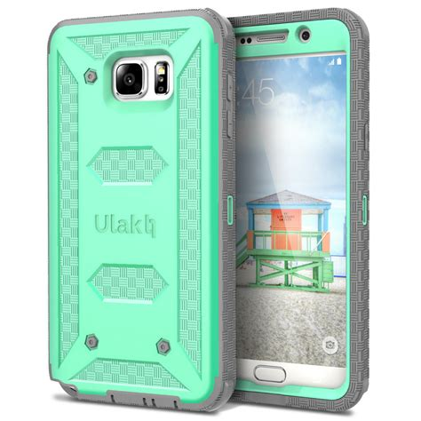 Samsung Galaxy Note 5 Rugged Armor Cover Armor With Stand 1 ulak armor hybrid rugged shockproof cover for samsung galaxy note 5