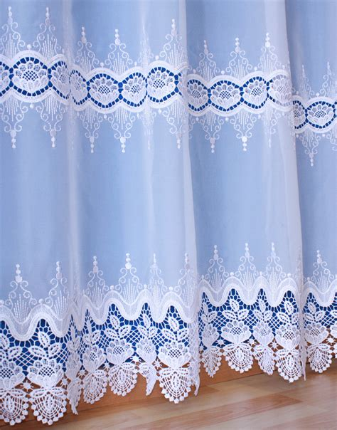curtain lace by the yard voile curtain with macrame lace available by the yard