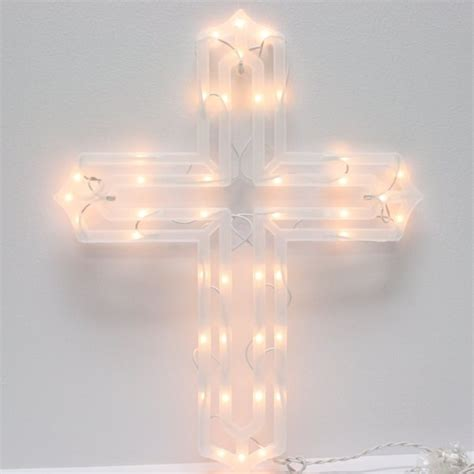impact innovations lighted window decorations impact innovations 39545 19 quot 43 light cross miniature