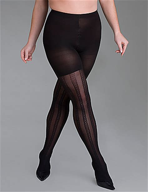 patterned control tights plus size spanx quot corset quot patterned control tights lane