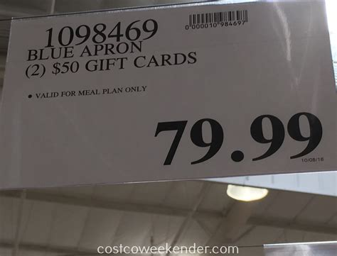 Costco Gift Cards - blue apron 2 50 gift cards costco weekender