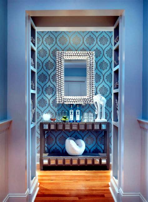 flur ideen blau farbgestaltung flur freshouse