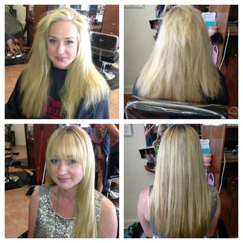 haircut before or after brazilian blowout brazilian blowout estee salon