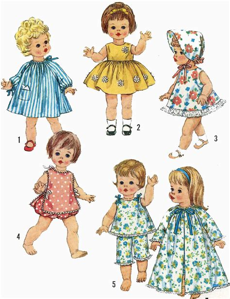 pattern for doll clothes 15 inch vintage doll clothes pattern 4839 for 15 inch chaty baby suzie