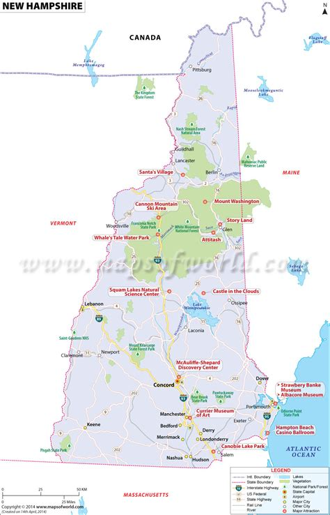 new map usa new hshire map map of new hshire map of nh