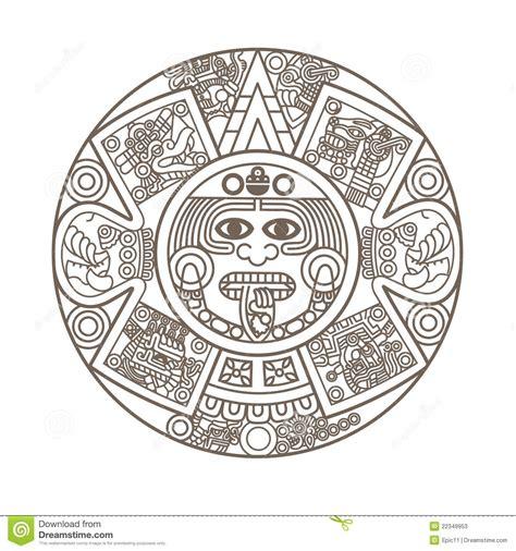 Calendario Azteca Pdf Calendario Azteco Stilizzato Fotografie Stock Immagine