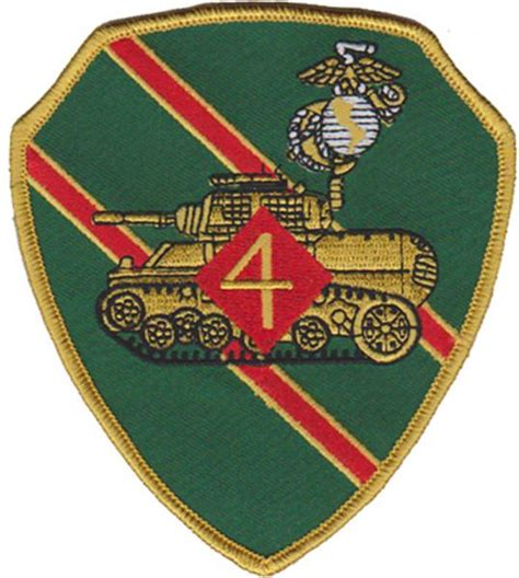 4th tank battalion patch u s marine corps patches