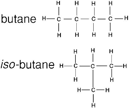 structure of neobutane and isobutane brainly.in
