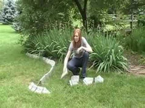 decorative stone landscape edging youtube