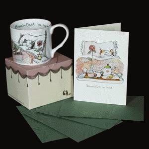 bed and breakfast gift card breakfast in bed mug and card gift set two bad mice