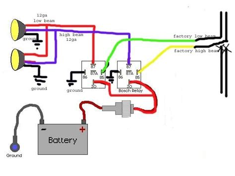 wiring horn relay diagram car wiring diagram