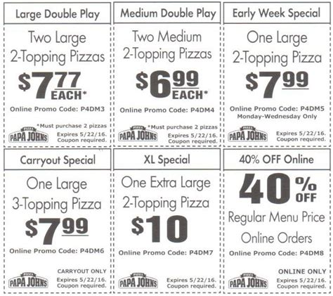 papa john s discount vouchers papa johns coupons canada codes cyber monday deals on