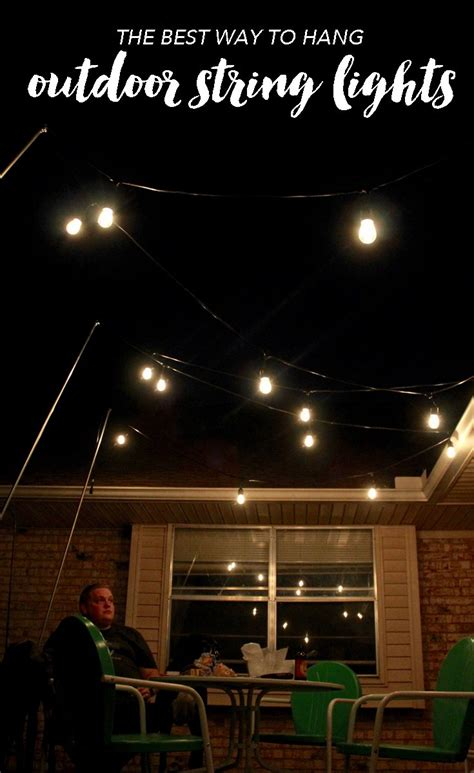 what to use to hang lights outside outdoor lighting how to hang patio lights the easy way