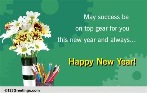 new year wish for colleagues free business greetings